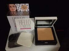 NEW BENEFIT Hello Flawless HONEY Custom Powder Cover-Up Face w Sponge& Brush $34