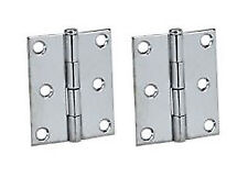 "Perko Removable Pin Butt Hinges Pair 3x3"" Chrome Plated Zinc Boat Marine"