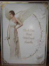 HANDMADE PERSONALISED FANTASY RELIGIOUS WITH SYMPATHY FRIEND CARD WITH A ANGEL