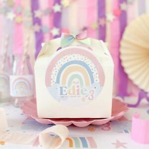 Rainbow Party Box | PASTEL RAINBOW | Personalised Kids Birthday Gift Bag Boxes
