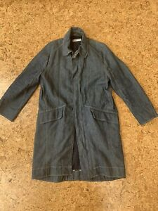 Rare 90s Levi Engineered Coat Lined with Zip Front - Medium