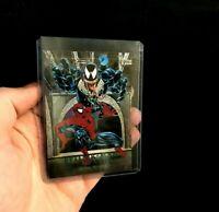 Spider-Man vs Venom 1992 Skybox Marvel Masterpieces Battle Spectra 4-D Foil Card