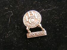 Vintage Jostens Sterling CHB Pin 400 Hours Service Community Hospital