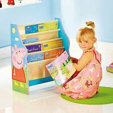 PEPPA PIG SLING BOOKCASE NEW MDF BOOK CASE