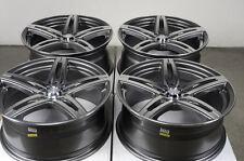 17 5x114.3 5x100 Gun Metal Wheels Fits Celica Optima Sentra Altima 5 Lug Rims