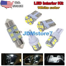 6x White LED Map Dome Interior Lights Package Kit for 2016 2017 Nissan Titan