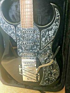 Burns Bison 64 reissue guitar.  Black with case.