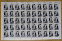 50 x Bund 1272 postfrisch Bogen Formnummer FN 1 BRD 1986 Oskar Kokoschka MNH