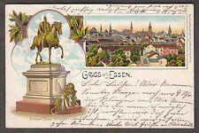 """13035 - AK, """"Gruss aus Essen"""", 1904, gebraucht."""