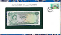Banknotes of All Nations Bahamas 1 dollar 1974 UNC P-35b Prefix R/1 Allen