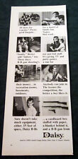 1964 Daisy BB Gun print ad - Shoot in your basement...with your mom!
