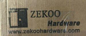 ZEKOO GCM4997 8' Single Track Bypass Barn Door Hardware Double Doors Kit *Open*