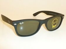 New RAY BAN Sunglasses Matte Black Rubber WAYFARER  RB 2132 622  G-15 Glass 55mm