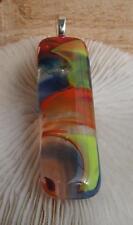 "HANDMADE ART GLASS CABACHON PENDANT :"" BEAUTIFUL GLASS BOIL NO: 10 """