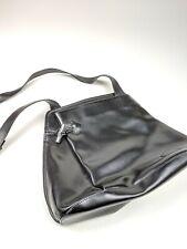 Longchamp Black Leather Crossbody Bag Side Bag Unique