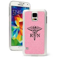 For Samsung Galaxy S3 S4 S5 Glitter Bling Hard Case Cover RN Registered Nurse