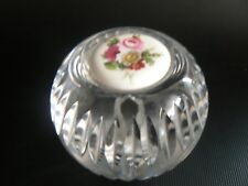Vintage Vidrio Pisapapeles Firmada Porcelana Wedgwood a la base