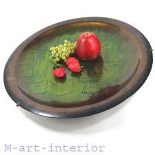 Künstler Schale Emaille Kupfer Ø 43cm enamel copper bowl LAURANA ARTE Italy 60s