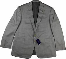 RALPH LAUREN PURPLE LABEL GRAY CASHMERE JACKET-SIZE 48R US-MADE IN ITALY