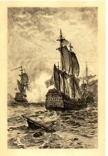 Marine Photograveur -c1890- FRENCH FRIGATE REPLIED