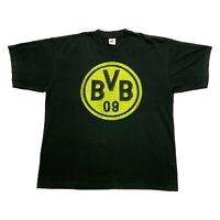 Borussia Dortmund Nike Tshirt   Vintage 90s Football Sportswear Swoosh Black VTG