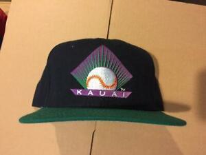 vtg DS Kauai Emeralds snapback hat cap milb hawaii winter baseball new era mlb