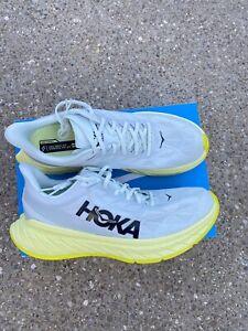 Hoka One One Carbon X 2 Men's size 11.5 D Blue Flower / Luminary Green