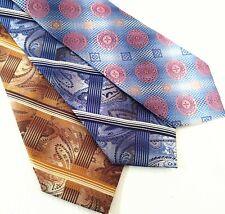 "(3) Stacy Adams  Paisley Geormetic Blue mens Necktie XL 62"" lot c"