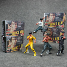 Set of 4Pcs King of Kung Fu Bruce Lee Pvc Action Figures Toy Collectible Gift