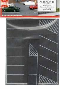 Busch (HO) #7076 Flexible Self Adhesive Parking Lot - NIB