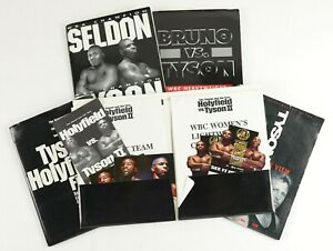 Lot of 5 Official Mike Tyson Boxing Press Kits w/ Both Holyfield Fights