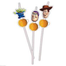 6 Disney Toy Story 3 Flexible Character Drinking Straws Woody Buzz Lightyear