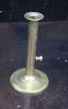 RARE EARLY HOG SCRAPER TYPE BRASS CANDLESTICK 18th / 19th Century