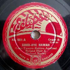 "Roland Blair & Michael Morley-Good-Bye Hawaii-Eclipse -/8"" 78 tr/min"