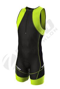 Zimco Compression Triathlon Suit Racing Tri Suit Bib Short Cycling Swim Run 7056