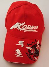 Korea Red Collectors Baseball Cap Sports Hat One Size V
