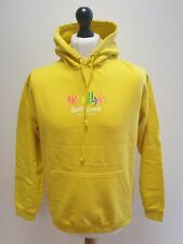 VINTAGE FAT WILLY'S SURF SHACK YELLOW COTTON BLEND PULLOVER HOODIE UK M EU 50