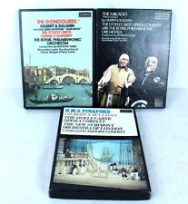 3 Gilbert & Sullivan Operas on Casette The Gondoliers The Mikado HMS Pinafore
