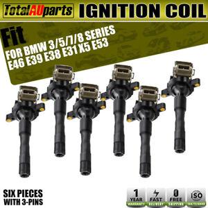 Set of 6 Ignition Coils for BMW E39 E46 E53 3, 5, 7 Series, X3, X5 12131703228