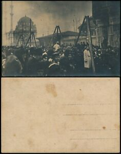 MIDDLE EAST, PHOTO CARD SHOWING OTTOMANS HANGING PERSONS TO BE IDENTIFIED. #Z138