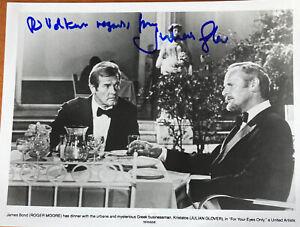 JULIAN GLOVER signed Autogramm 20x30cm In Person / James Bond