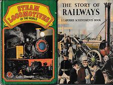 Ladybird Books: Series 601, Story of Railways; Steam Locomotives of the World