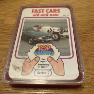 RARE VINTAGE 1970s FAST CARS OLD AND NEW TOP TRUMPS