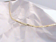 "10"" Ladies Ankle Bracelet Anklet Italy  10K Yellow Gold Solid Marina Link"