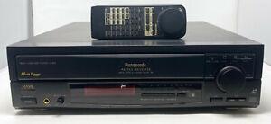Panasonic LX-600 Laserdisc Player Auto Reverse + Remote VEQ1509 LD Laser Disc
