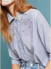 NWT in Bag Anthropologie $158 Rails Pearl Button down Sz M-Fast Shipping