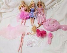 Barbie Lot: Nutcracker Ballerina w/ Stand tutu, Fairy wings, princess tiara doll