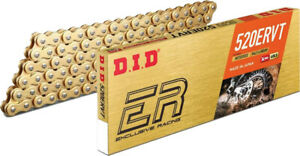 D.I.D. 520 ERVT Gold X-Ring Motorcycle Racing Drive Chain With Clip Master Link