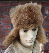 REAL RED FOX & RABBIT   Ushanka trapper  fur hat size:55/56cm