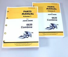 JOHN DEERE 6620 COMBINE PARTS ASSEMBLY MANUAL CATALOG 2 VOLUMES